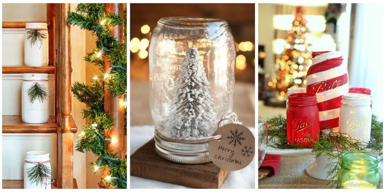 43 mason jar christmas crafts fun diy holiday craft projects ways to use mason jars this christmas solutioingenieria Choice Image