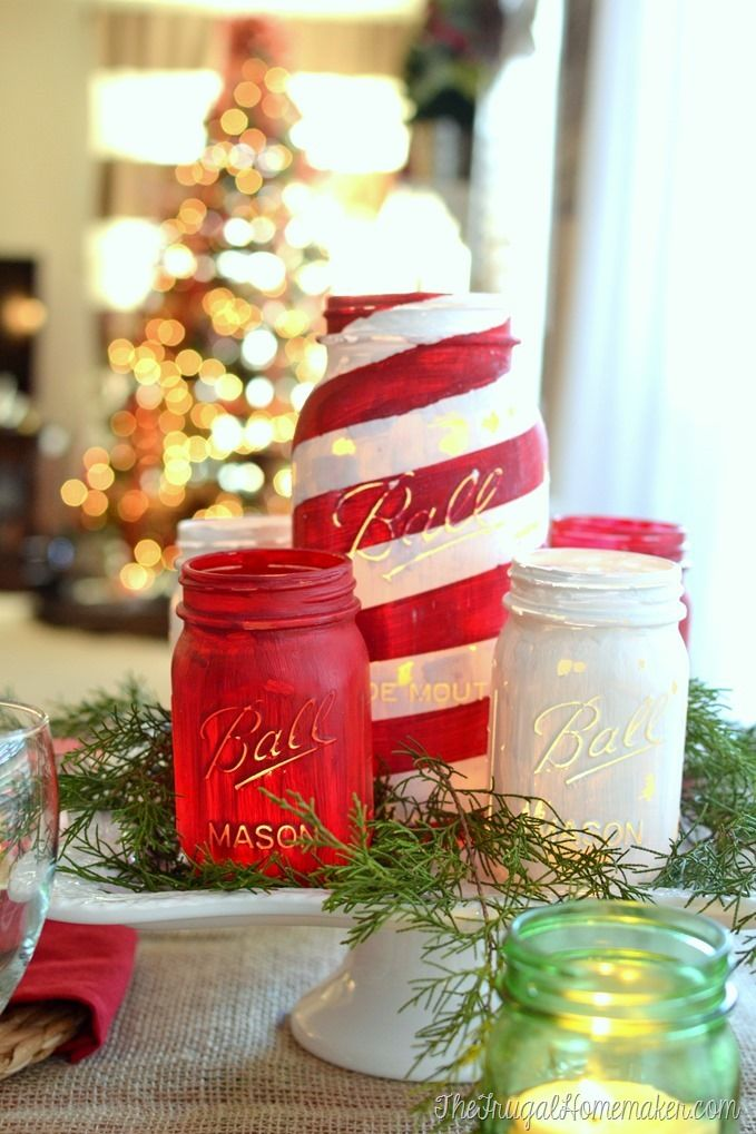 40 mason jar christmas crafts fun diy holiday craft projects solutioingenieria Gallery
