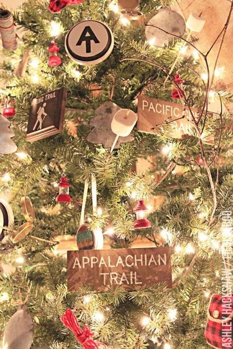 vintage camping christmas tree