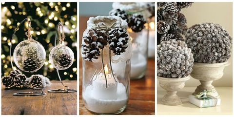 pinecones appear seemingly everywhere at our feet this time of year and yet we hardly notice them here are some creative and easy ways to bring nature home - How To Decorate Pine Cones For Christmas Ornaments