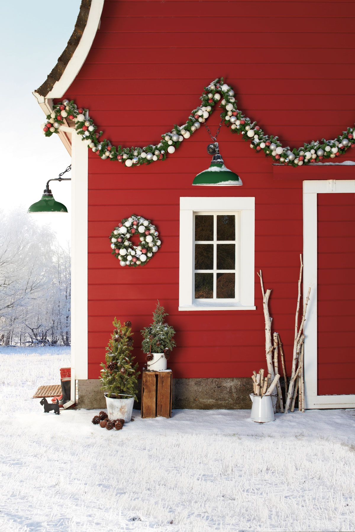 country christmas decorations lights