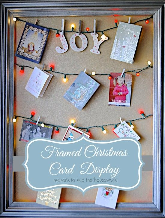 23 DIY Christmas Card Holder Ideas - How to Display Christmas Cards