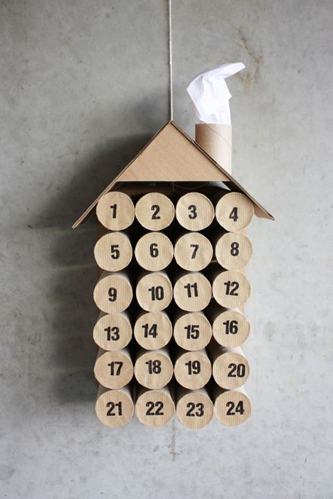 diy toilet paper roll advent calendar