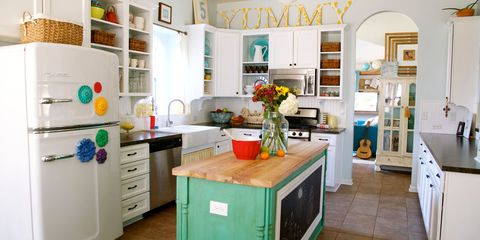 Room, Interior design, Green, White, Floor, Drawer, Cabinetry, Furniture, Cupboard, Interior design,
