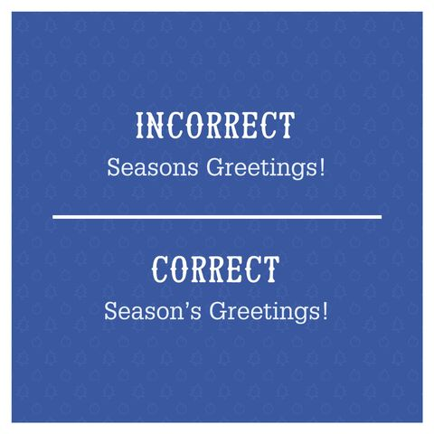 Most common grammar mistakes christmas cards image katja cho seasons greetings m4hsunfo