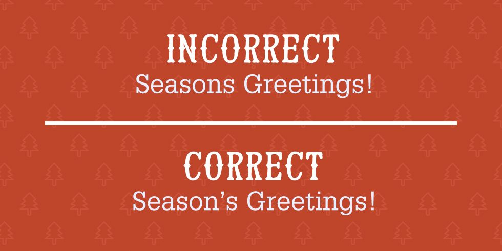 Most Common Grammar Mistakes Christmas Cards