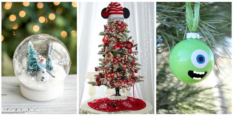 Disney christmas decorations diy disney christmas from ornaments to stockings the holiday season wont be complete without these diy disney decorations solutioingenieria Images