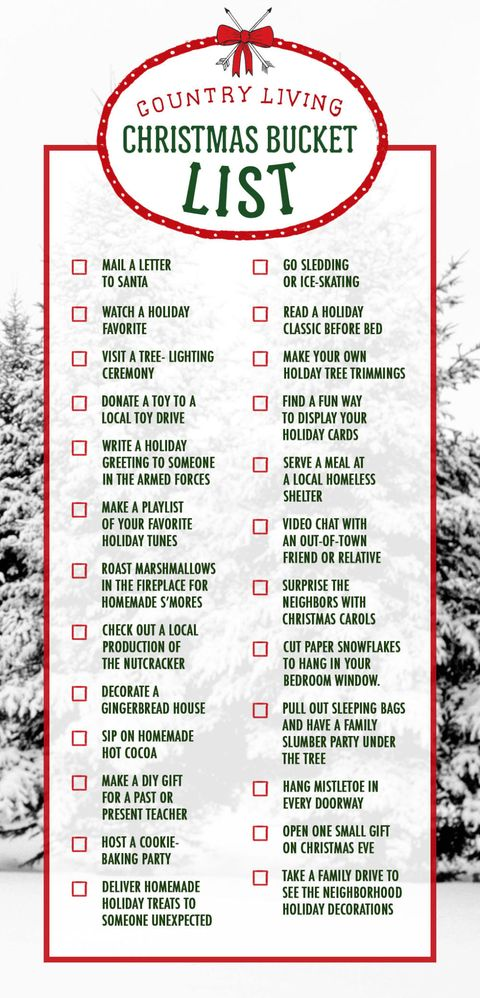 28 Fun Christmas Activities Christmas Bucket List Ideas Country