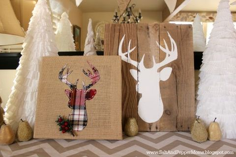image - Burlap Christmas Decorations