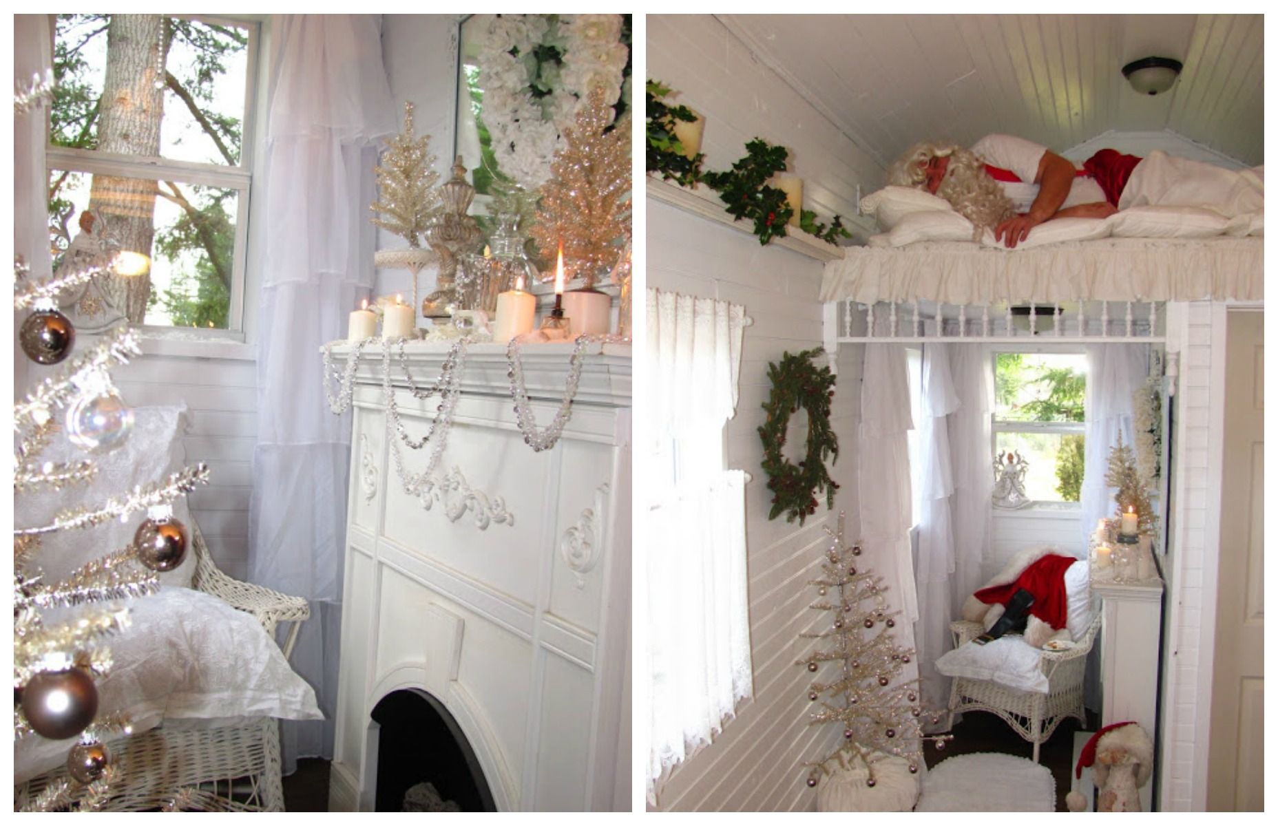 16 Small Space Christmas Decorating Ideas - Tiny House Christmas
