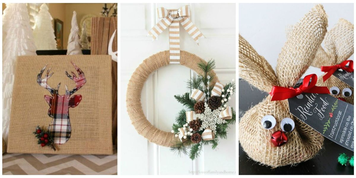 14 Burlap Christmas Decorations