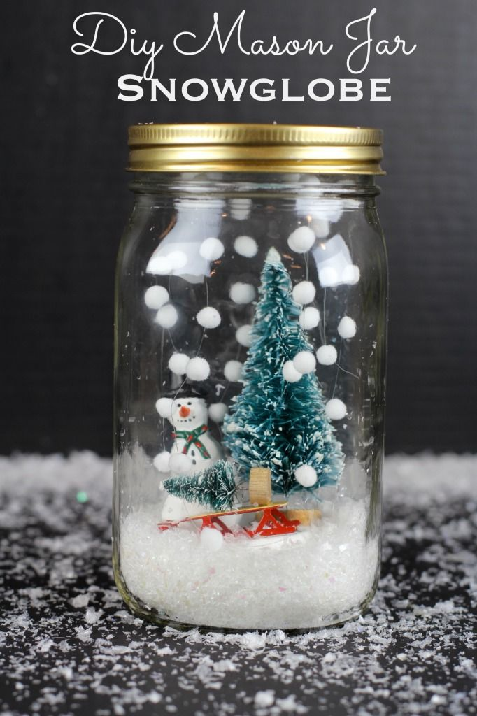 13 diy snowglobes that will get you excited for christmas how to make snow globes