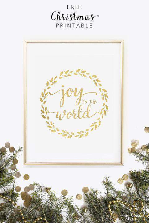 joy free christmas printable - Christmas Printable