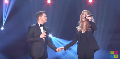 Celine dion michael buble christmas duet celine dion christmas songs celine dion has opened her mouth to sing and pure bliss hasnt come out right we couldnt either the singer made an appearance on michael bubls m4hsunfo