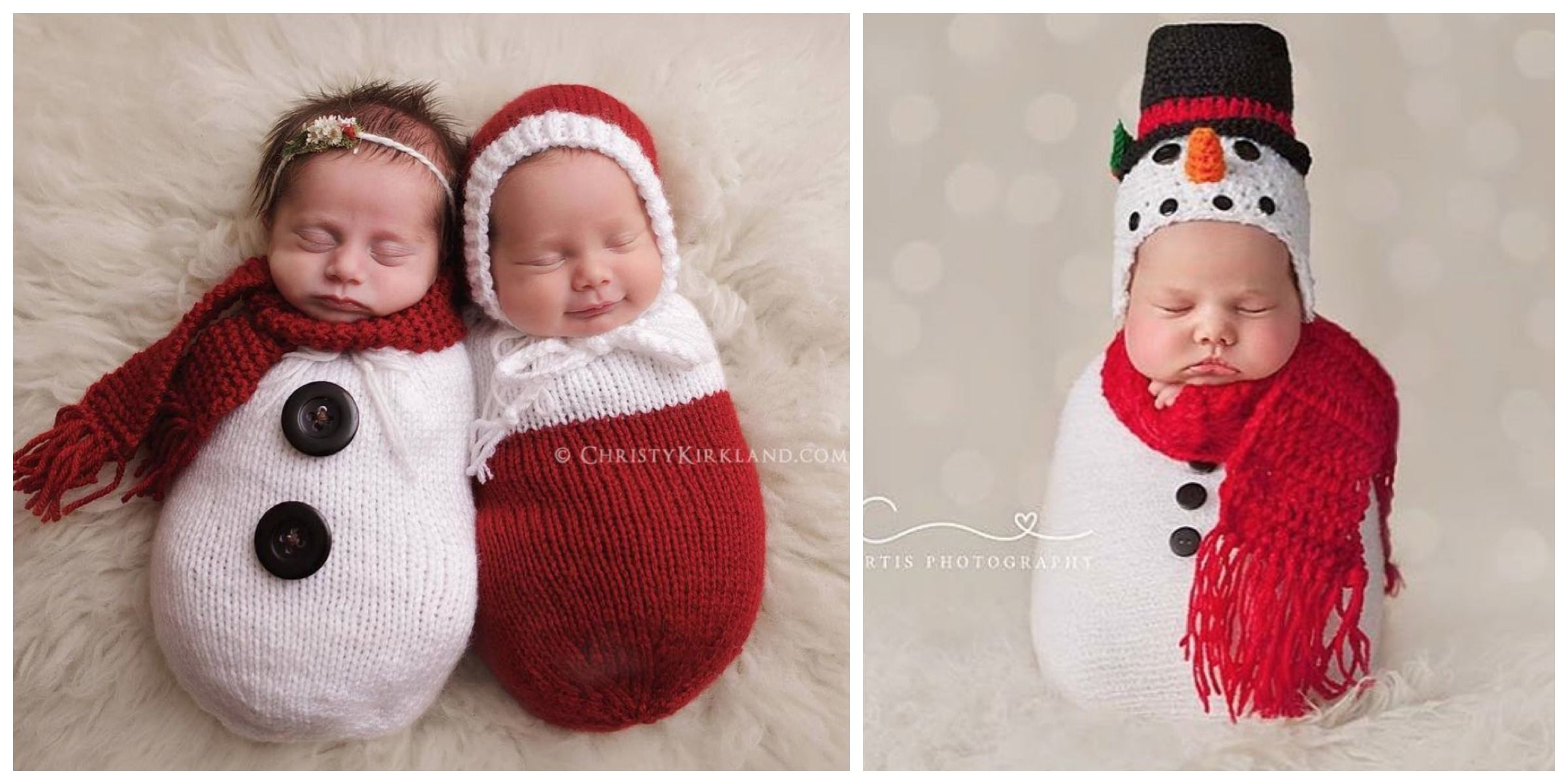 These 17 Newborn Babies Wearing Knitted Christmas Outfits Will Fill Your Heart With Cheer