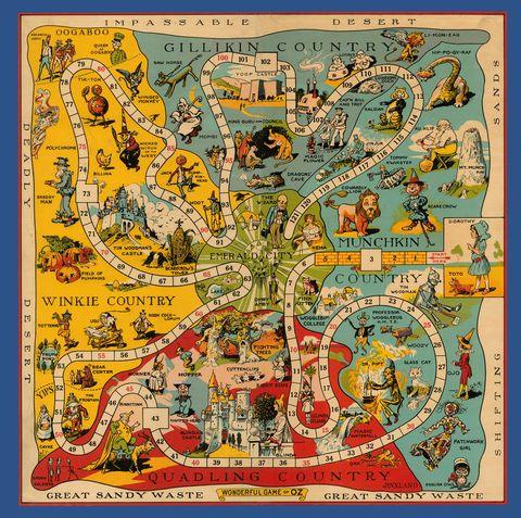 Yellow, Orange, World, Map, Rectangle, Visual arts, Illustration, Poster, Mythology, Painting,