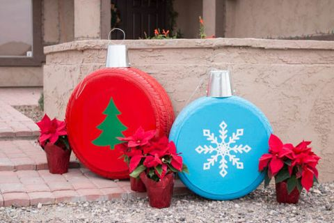 Addicted 2 Diy Old Tires Christmas Ornaments