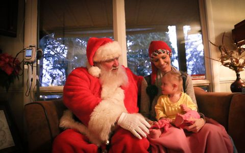 Santa visits Joey Feek