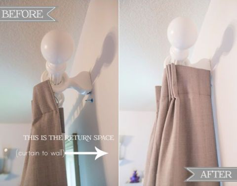 """<p>Want your curtains to look fuller? Measure the space between the rod and the wall — this space is called the """"drapery return"""" — so your curtains can wrap all the way around.<span class=""""redactor-invisible-space"""" style=""""line-height: 1.6em&#x3B; background-color: initial&#x3B;""""></span></p><p><a href=""""http://www.sengerson.com/our-home/hang-curtain-and-drapery-designer-professional/"""" target=""""_blank""""><em>Get the tutorial at Sengerson »</em></a></p>"""
