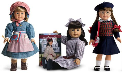Original three American Girl dolls Kirsten, Samantha and Molly