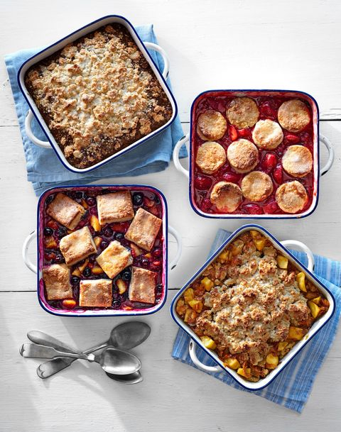 Almond, Peach and Blueberry Cobbler