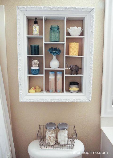 Exposed Bathroom Cupboard