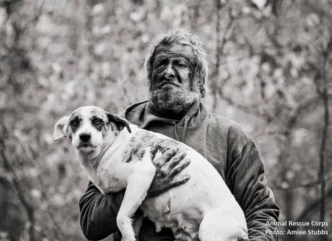 Dog breed, Human, Skin, Carnivore, Dog, Mammal, Facial hair, Beard, Monochrome photography, Snout,