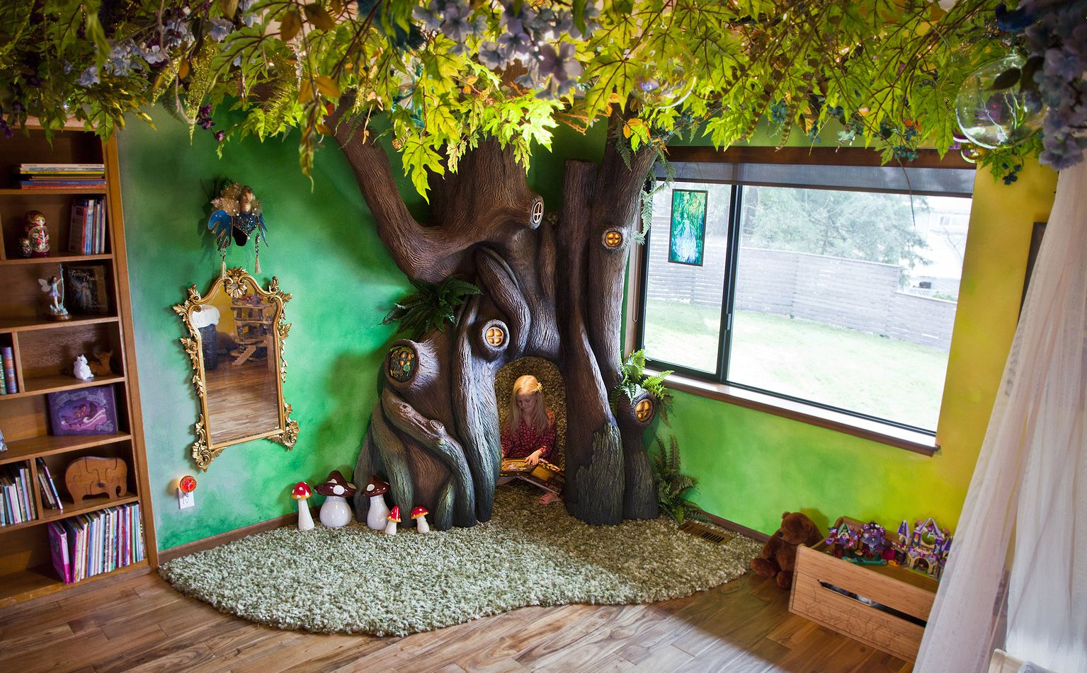 Father Built Tree In Daughter S Bedroom How To Make Child S