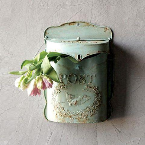 Dot & Bo Minty Post Box