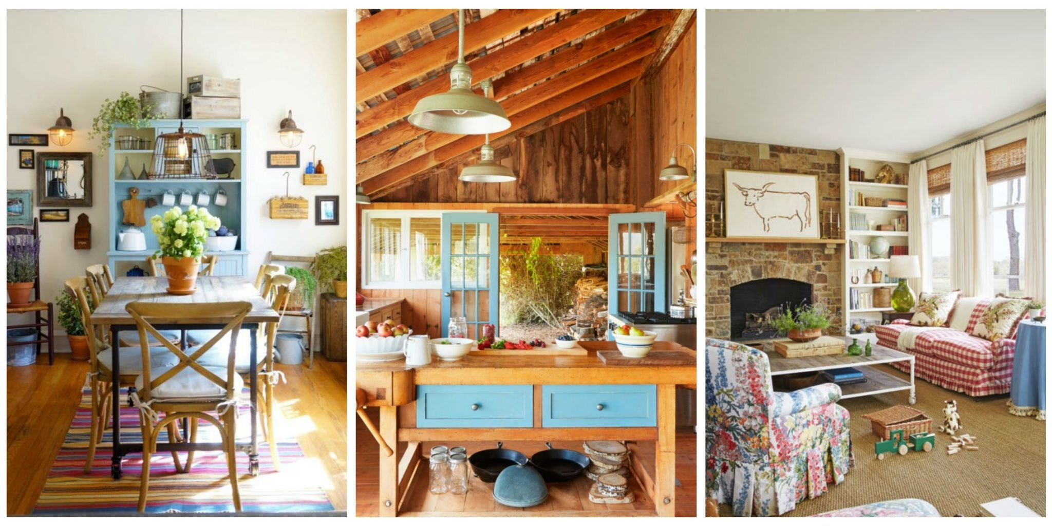 We Never Tire Of Beautiful Farmhouse Decoru2014from Bedrooms To Kitchens, Take  A Look At These Simple And Rustic Rooms. Want More? See Our Best Country ...