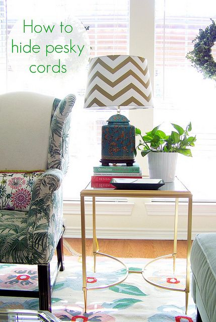10 Stylish Ways To Hide Unsightly Cords And Wires In Your