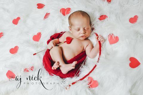 16 Valentine S Day Babies Newborn Photography For Valentine S Day