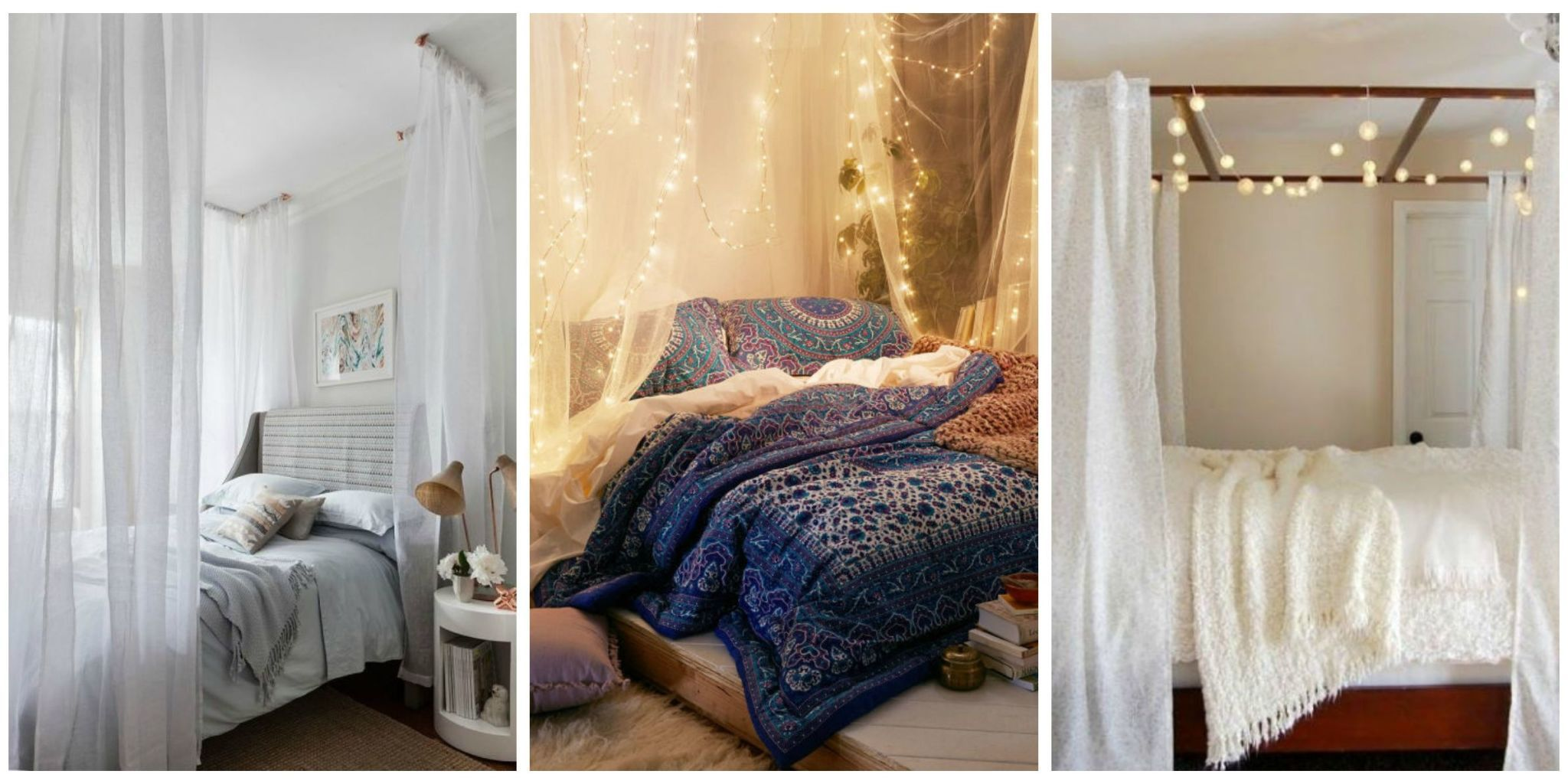 Never underestimate the power of a cozy escape. & 10 DIY Canopy Beds - Bedroom and Canopy Decorating Ideas