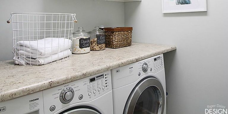 laundry room makeover - laundry room organization