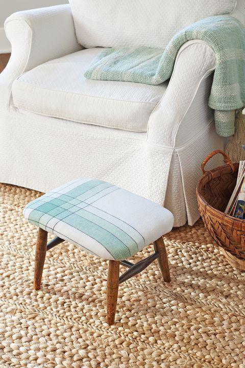 Blue, White, Furniture, Teal, Basket, Turquoise, Storage basket, Aqua, Grey, Wicker,