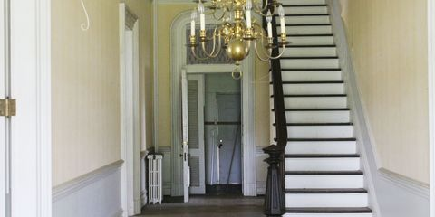 Stairs, Property, Architecture, Floor, Ceiling, Light fixture, Interior design, Chandelier, Flooring, Real estate,