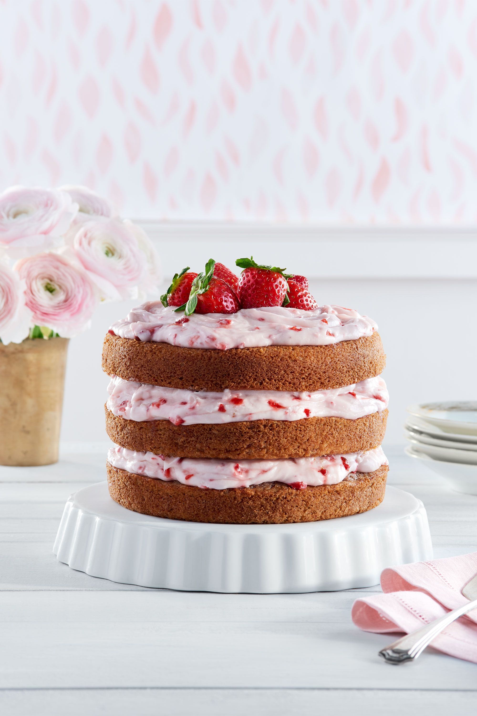 Brian Woodcock & Strawberry Limeade Cake with Strawberry Cream Cheese Frosting