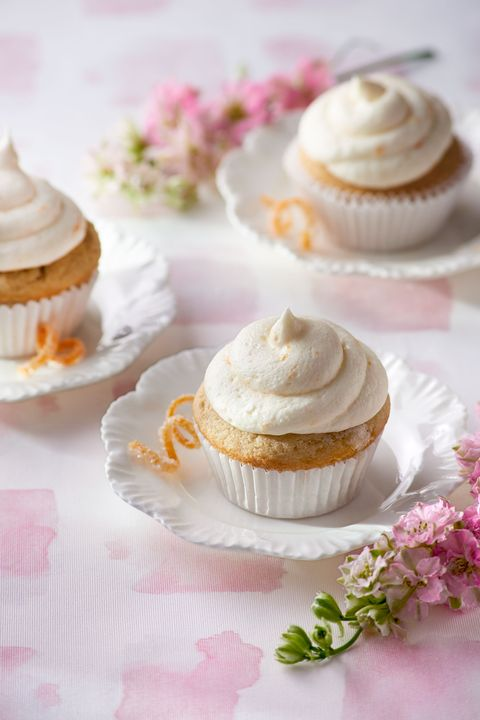 recipe for lady grey cupcakes with orange zest frosting