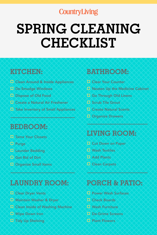 Superb American Artist. Spring Cleaning Checklist