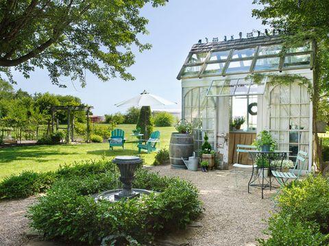 Plant, Garden, Shrub, Flowerpot, Yard, Water feature, Landscaping, Outdoor table, Backyard, Groundcover,