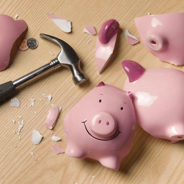 Pink, Purple, Suidae, Magenta, Snout, Domestic pig, Kitchen utensil, Tool, Saving, Cutlery,