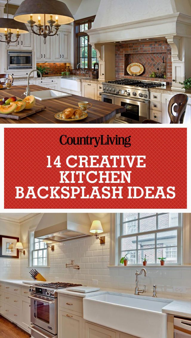 inspiring kitchen backsplash ideas backsplash ideas for granite rh countryliving com Navy Blue Kitchen Tile Backsplash Country Kitchen Backsplash Designs