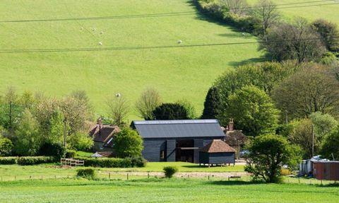 Grass, Plant, Farm, House, Land lot, Landscape, Rural area, Plain, Field, Grassland,