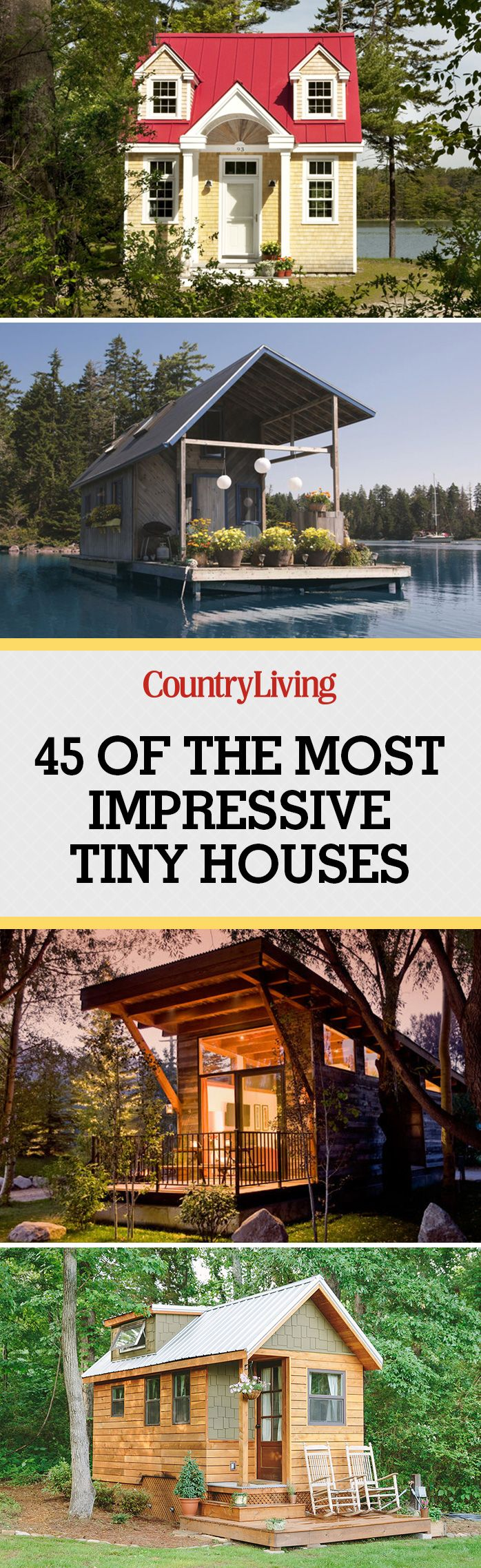 65 Best Tiny Houses 2017 - Small House Pictures \u0026 Plans