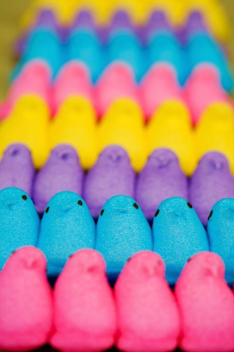 Colorfulness, Pink, Peeps, Purple, Sweetness, Confectionery, Food additive, Dessert,