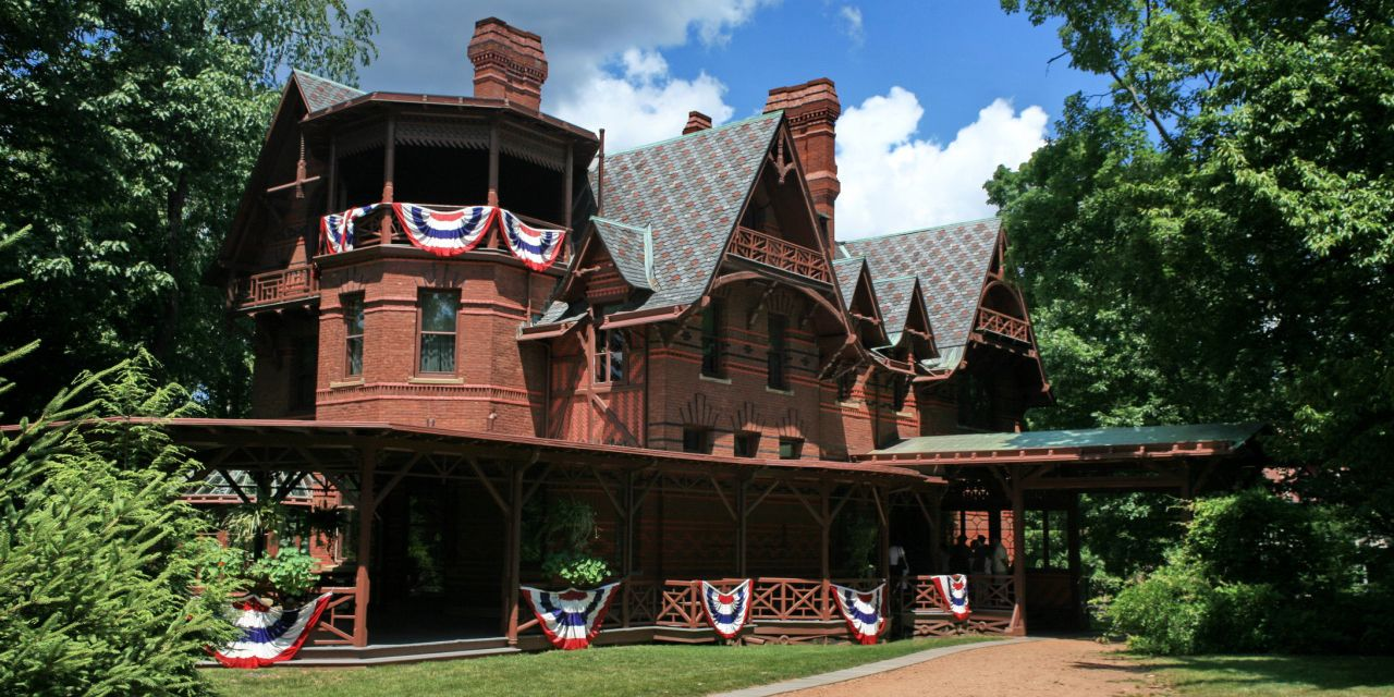 The historic mansion of Mark Twain house in which live ghosts