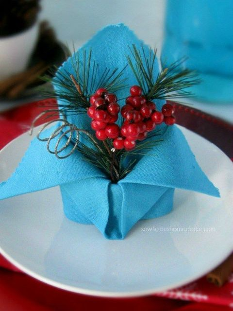 sewlicious home decor holiday crown in this fold the napkin