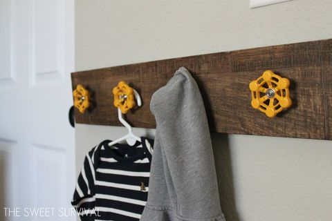 diy coat racks, diy hooks