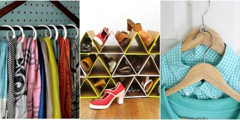 Textile, Pattern, Clothes hanger, Carmine, Tan, Shelving, Bag, Collection, Shoe organizer, Design,