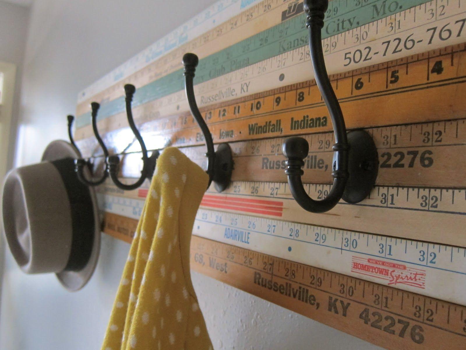 diy coat racks diy hooks & 15 Clever Ideas for DIY Hooks - DIY Coat Racks